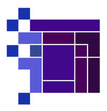 Purpurrotes Würfel-Logo Lizenzfreie Stockfotos