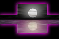 Purpurrotes Wasser logoset Lizenzfreie Stockfotos