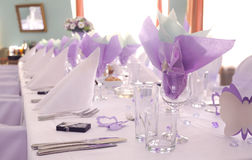 purpurt bröllop Arkivfoto