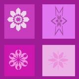 purpurt fönster Arkivbilder