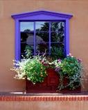 purpurt fönster Fotografering för Bildbyråer