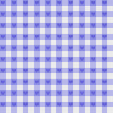 Purpurt Ginghamtyg med hjärtabakgrund Royaltyfri Bild