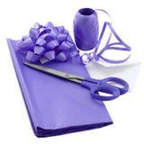 purpurt omslag för gåva Royaltyfria Foton