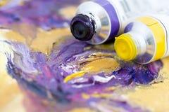 Purpury i kolor żółty zdjęcia royalty free