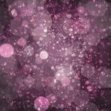 Purpury, Śliwkowy Szampański Bokeh wzoru projekt Fotografia Royalty Free
