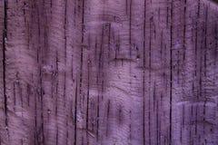 Purpury moczą Drewnianego panelu tło, krakingowa tekstura, stara powierzchnia Fotografia Stock