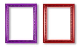 Purpury rama i czerwieni rama odizolowywająca na białym tle Zdjęcie Stock