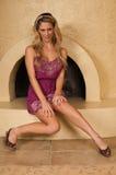 Purpury suknia Fotografia Royalty Free