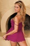 Purpury suknia Zdjęcia Royalty Free