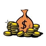 Purse. Money Purse bag gold coin Royalty Free Stock Photography