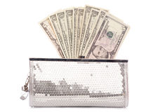 Purse with american dollars Stock Photography