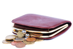 Purse And Coins Stock Images