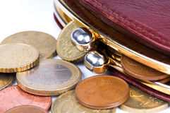 Purse And Coins Stock Image
