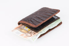 Purse with banknotes. Royalty Free Stock Photography
