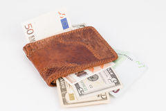 Purse with banknotes. Stock Photos