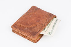 Purse with banknotes. Royalty Free Stock Images