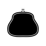 Purse black color icon . Purse it is black color icon Stock Image