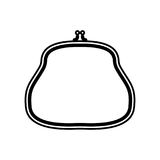 Purse black color icon . Purse it is black color icon Royalty Free Stock Photography