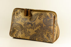 Purse. Brown purse on bright background Royalty Free Stock Photos