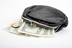 Purse with cash Stock Image