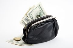 Purse with cash Stock Images