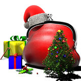 Purse Christmas Royalty Free Stock Photo