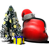 Purse Christmas1 Royalty Free Stock Image