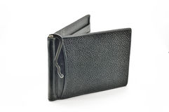 Purse with clip for notes Royalty Free Stock Images
