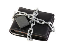 Purse coiled chain Royalty Free Stock Images