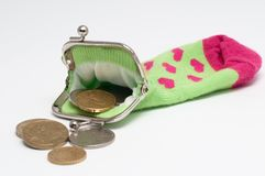 Purse coin Royalty Free Stock Images