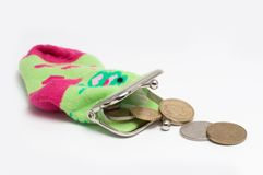 Purse coin Stock Photography