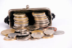 Purse with coins Stock Image