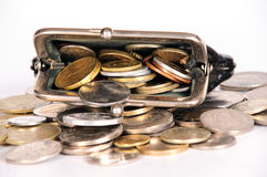 Purse with coins Stock Photography