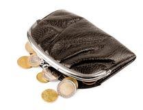Purse with coins on a Stock Photos