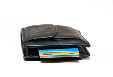 Purse and credit cards Stock Image