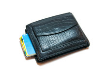 Purse and credit cards Stock Images