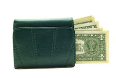 Purse with dollar Stock Photos
