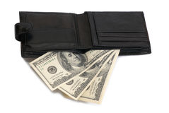 Purse with dollars Royalty Free Stock Image