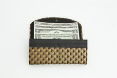 Purse with dollars Stock Photos