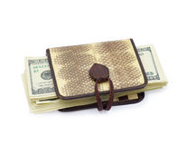 Purse with dollars Royalty Free Stock Photos