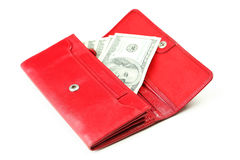 Purse with dollars banknotes Royalty Free Stock Image