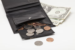 Purse with Dollars Stock Photography