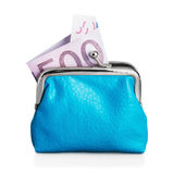 Purse euro banknote Royalty Free Stock Photo