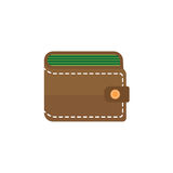 Purse flat icon, business financial Stock Photography