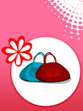 Purse with flower stock illustration