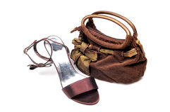 Purse and footwear Stock Photography
