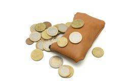Purse full of money Stock Photo