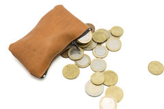 Purse full of money Royalty Free Stock Images