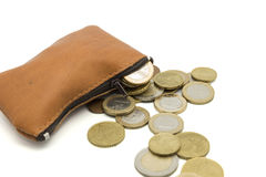 Purse full of money Stock Images