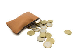 Purse full of money Royalty Free Stock Photography